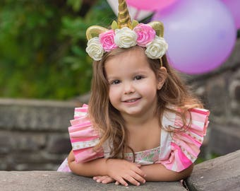 Gold Unicorn Headband, Unicorn Headband, Unicorn Girl Headband , Unicorn Birthday, Unicorn Toddler, Unicorn Birthday, Adult Unicorn Heabdand