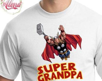 DIGITAL FILE , Grandpa Birthday Shirt DIY , Iron On Transfer , Grandpa Iron On Transfer , The Avengers Birthday Shirt , Grandpa T Shirt