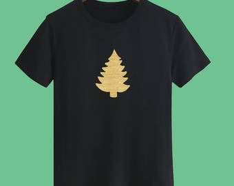 Christmas T shirts Christmas Tree T shirts Christmas Gift T shirts Golden T shirts sayings Party T shirts X'mas Party T shirts Unisex tee