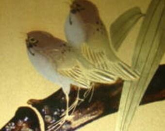 Pretty Vintage Bird Postcard