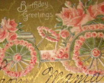 Vintge Floral Postcard (Car #6)
