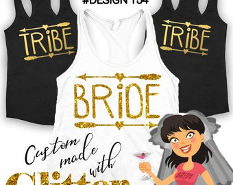 Tribe Shirts, Bride Shirt, Bridesmaid gift, bridesmaid shirt, bridal shirts, Bachelorette party shirts Set of 2,3,4,5,6,set of 7,8,9,10,11