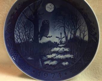 Royal Copenhagen Collector Plate - 'Winter Twilight' (#236)