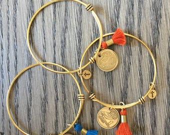 Greek Coin Bracelet, Greek drachma bracelet