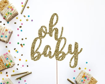 Oh Baby Cake Topper, Baby Shower Cake Topper, Gender Reveal Party, Baby Shower