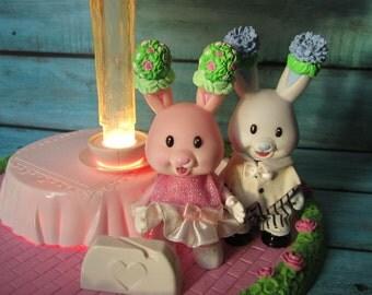 90's Tea Bunnies Fountain Cake Set