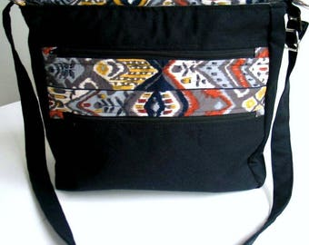 Handbag, Shoulder bag with adjustable strap - made from all UP CYCLED materials