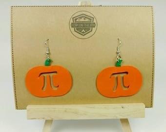 Pumpkin Pi Earrings | Holiday Earrings | Pumpkin Pie | Math Geek | Teacher Gift | Teacher Gift | Math Nerd | Nerd Gift | Nerdy Gift