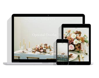 Violette: Designer Squarespace Website Template with Blog and Ecommerce, Squarespace Template, Brand Kit, Photography Florist Website Design