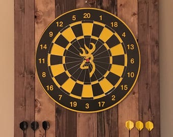 Rustic Wood Dartboard / Backboard / Surround / Cabinet