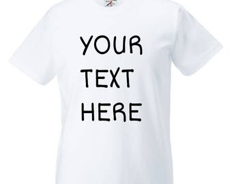 CUSTOM TSHIRT Choose Text or Saying Design Your Own Shirt Kids Custom Text Make Your Own Personalized Outfit