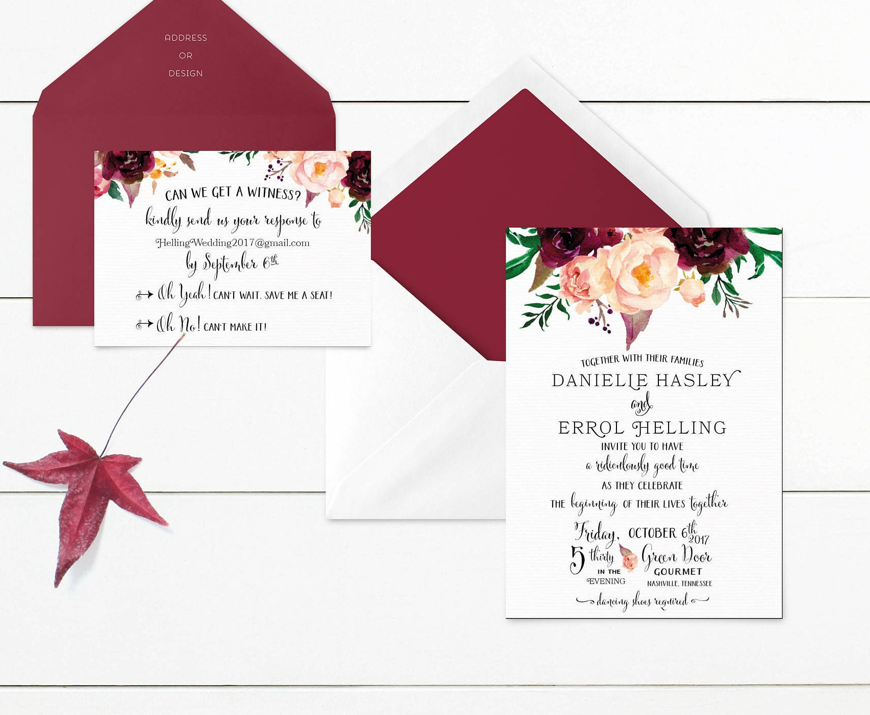 Printable Wedding Invitation, Floral Wedding Invites, Infographic ...