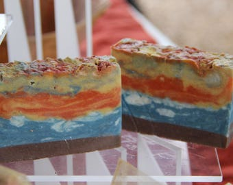 Handcrafted Artisan Bar Soap My Version of a Beach Sunset