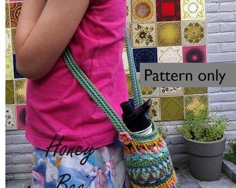Bottle Bag Honey BEE crochet pattern