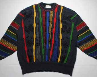 vintage Carlo Colucci knit sweater SIZE 52 made in West Germany 80's 90's
