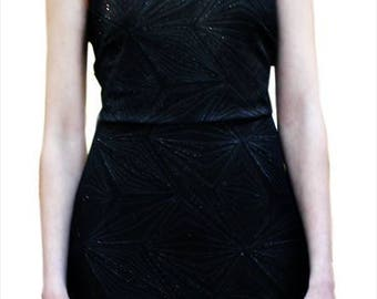 Gothic Clothing Black Dress strass Queen nu Goth  Sexy  Elegant Party