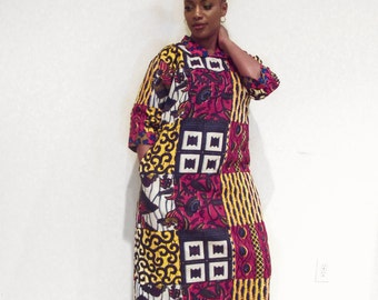 Ankara Kaftan Maxi Dress