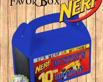 NERF Inspired Favor Box,  NERF Inspired Treat Box, NERF Party Boxes - Set of 10
