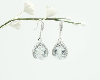 Crystal Bridal earrings Wedding jewelry , Crystal Wedding earrings Bridal jewelry, Drop Earrings, wedding earing,tear drop earings