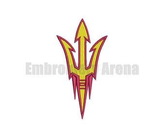 Football embroidery design - (Arizona state Sun Devils) - instant DOWNLOAD digital file