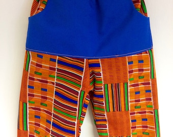 African print baby trousers