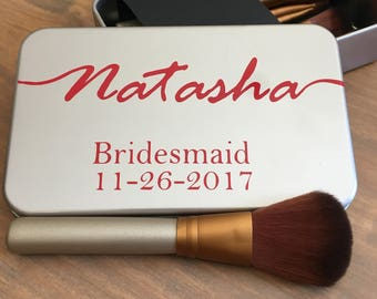 Personalized Makeup Brush Set Bridesmaid Gifts, Maid of Honor Gifts, Bridal Party Gifts, Personalized Makeup Brushes
