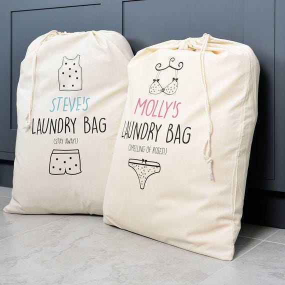 Hers Laundry Personalised His And Hers Laundry Bag Set