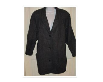 Michelle Stuart Studio Gray Wool Coat SZ M