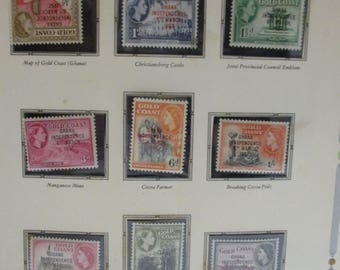Ghana Mint Stamp Book Collection 1957-1965 with lots of extra postage stamps