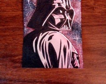 Darth Vader hand drawn sketch card
