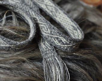Handspun, tablet woven band