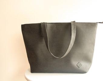black leather tote, black leather bag, leather tote bag, tote bag, large leather bag, shoulder bag, black leather handbag, women handbag