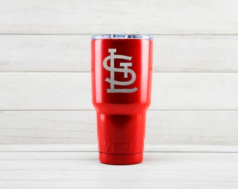 Yeti Tumblers Engraved With St. Louis Cardinals Personalized Yeti Tumblers 20 oz St. Louis Cardinals Yeti Gift For Men