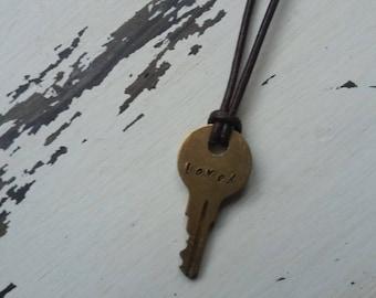 Key Necklace - Loved
