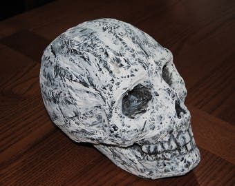 Paper mache skull skeleton bones Halloween decoration handmade art party mask costumes decor stickers Mexican wreath jewelry artwork