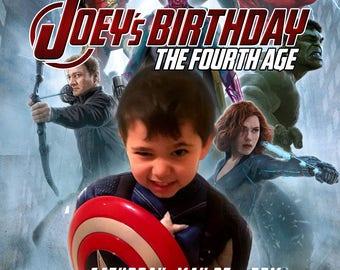 Customized Avengers Birthday Invitation