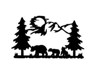 Bear woods adventure vinyl decal