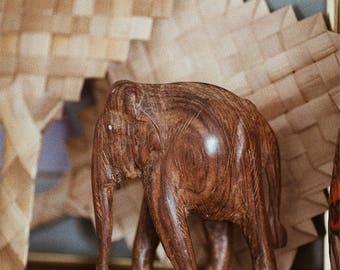 Beautiful Vintage Wooden Elephant Decor