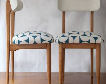 Mid-century wooden couple chairs