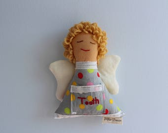 Tooth Fairy Pillow, Gender Neutral, Tooth Fairy, Tooth Fairy Pocket, Toothie Anna