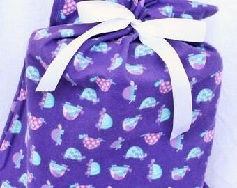 Cloth Gift bag - Turtle Gift Wrap -Reusable Gift Bag, Eco Friendly Gift Bag (Large)