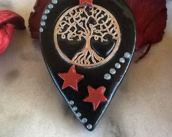 Tree of life/ Necklace/ Stars/ Polymer Clay/Charm