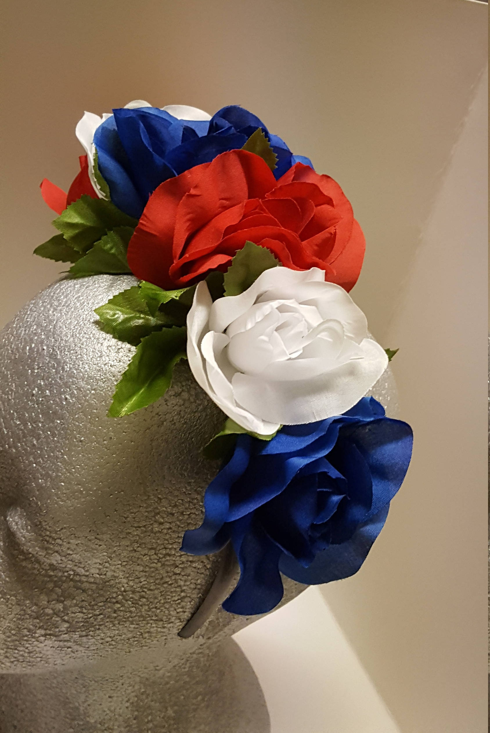 Red White And Blue Flower Crown Large E1019094703252149m