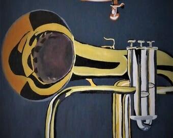 Flugelhorn Acrylic Canvas