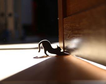 Door stopper Door stop Cat doorstop Doorstop Door holder Hold the door Hodor Cat door Door hold Wood door stop Door decor Door wedge Hinges