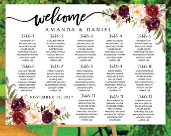 Wedding Seating Chart, Poster wedding, Seating Chart, Wedding Table seating, Decor Signs , Wedding decor, Signs, Decor, Find Your Seat, S83