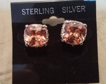 925 Sterling Silver and Orange topaz, aprox. 3 K  each!!