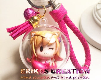 Star Guardian ahri Keychain - League of Legends Inspired