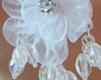 White Flower Bridal earrings