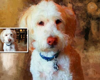Custom Pet Portrait, Pet Painting from Photo, Dog Portrait, Painted Portrait, Photo Painting, Pet Portrait - Download